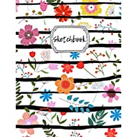 """Sketchbook: Floral Blank Drawing Book For Girls & Boys 