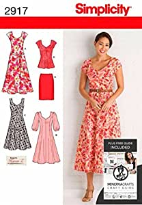 Simplicity Sewing Pattern 2917 - Misses' & Plus Size Dresses Sizes: AA (10 12 14 16 18)