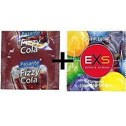 100Mixed Preservativos–50x Pasante sabor Cola + 50x negro chicle con sabor 3 Sexo seguro, condones y contenido erótico | Más de condones