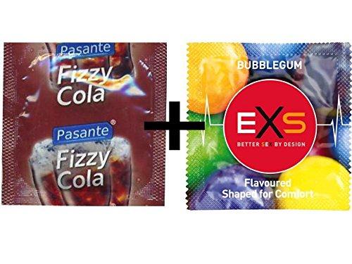 12preservativos Mixta–6x Pasante cola sabor + 6x Negro Chicle con sabor 1 Sexo seguro, condones y contenido erótico | Más de condones