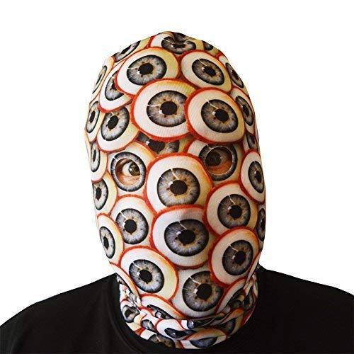 L&S PRINTS FOAM DESIGNS 3D Effekt Mad Eyed Monster Face Haut Sensenmann Halloween Horror Maske hergestellt in Yorkshire (Masken Monster Mad)
