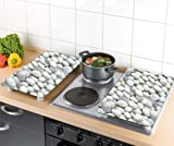 Wenko 30 x 4.5 x 52 cm Cover Plates for Cookers Universal Pebbles, Set of 2