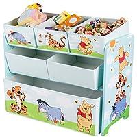 Preisvergleich für Disney Winnie Pooh Multi Toy Organizer für Spielzeug aus Holz mit Textilschubladen Aufbewahrungsbox mit Schubladen NEU