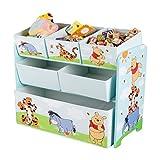 Disney Winnie Pooh Multi Toy Organizer für Spielzeug aus Holz mit Textilschubladen Aufbewahrungsbox mit Schubladen NEU
