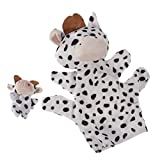 #10: Imported Black White Milk Cow Hand Puppet Finger Puppet