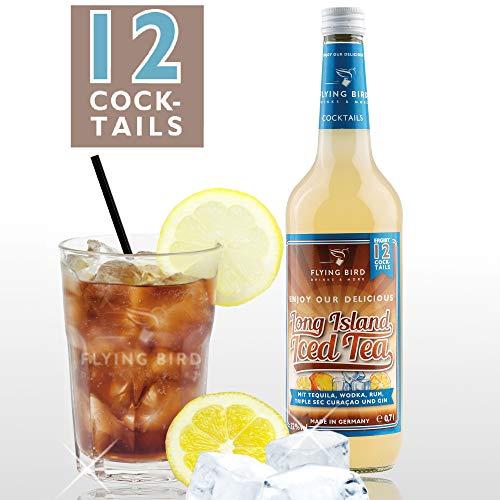 Long Island Iced Tea 32% Vol. - PreMix für 12 alkoholische Cocktails - Flasche 0,7l mit allen Zutaten - einfach auf Eis mit Cola servieren, fertig Long Island Iced Tea