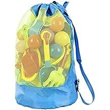 e6a761b61 Vwh tamaño grande, malla bolsa de playa bolso mochila durable toallas de  juguetes de almacenamiento