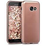 kwmobile Samsung Galaxy A3 (2017) Hülle - Handyhülle für Samsung Galaxy A3 (2017) - Handy Case in Metallic Rosegold