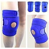 Soporte para la rodilla, KIROLAK Neopreno Buena compresión deportiva Manga de soporte de la rodilla para menisco de ACL Recuperación de lesión por rotura Confort Confort - Azul