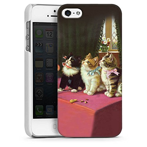 Apple iPhone 4s Housse Étui Silicone Coque Protection Paul Klee Des chats et un perroquet Art CasDur blanc