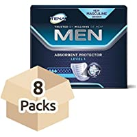 Tena Men Absorbent Protector Nivel 1 - Caja de 8 paquetes de 12