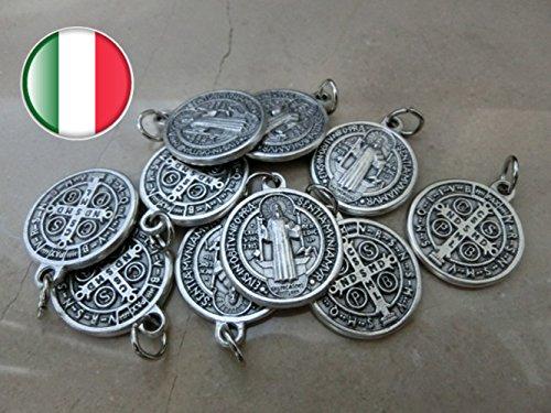 Medaille Benedikt St. (Heiliger Benedikt St. Benedict mit Ring Silber 10Medaillen)