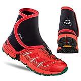 Make the Change MTC Trail Guêtres Ultra Race Guêtres pour Homme et Femme 1 Paire de Housses de Chaussures étanches pour randonnée, Trail, Course à Pied, Red