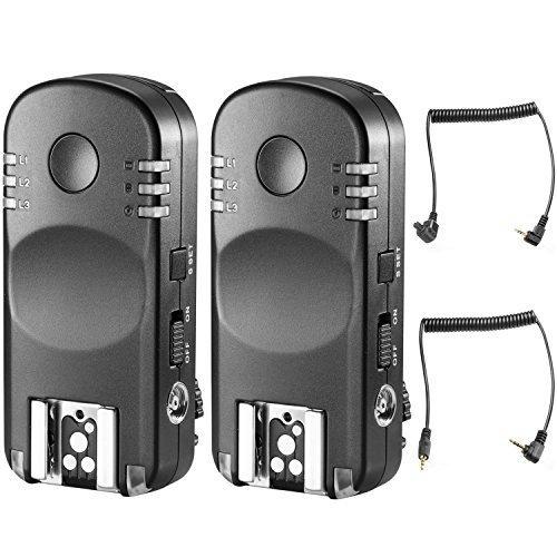 Neewer 2.4G Funk Fernbedienung Blitz Auslöser Transceiver Paar mit Fernauslöser für Canon DSLR Kameras, wie 1D Mark II III IV 5D Mark II III IV 1100D 1000D 700D 650D 600D 550D 500D 450D 100D 60D