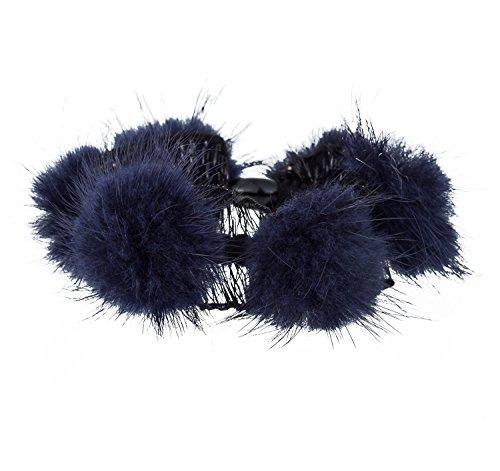 Big Hair Schleifen Boutique Mädchen Clips Ripsband Kopfband Haar Zubehör 4PCS (Satin-spandex-krawatte)