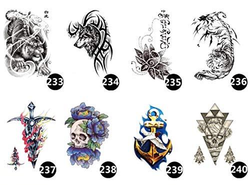 ruofengpuzi Temporäre Bar Nachtclub Langlebige Arme Ukiyo Gemalte Blume Arm Tattoo Aufkleber Tattoo Rose Half Wing Geisha Art Tattoo 8Ps (Geisha Kostüm Halloween Make-up)