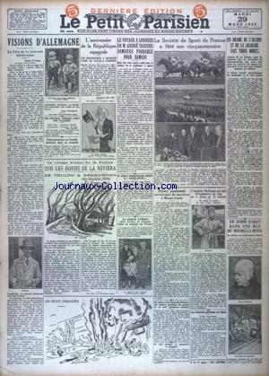 PETIT PARISIEN DERNIERE EDITION DE 5 HEURES (LE) [No 20118] du 29/03/1932