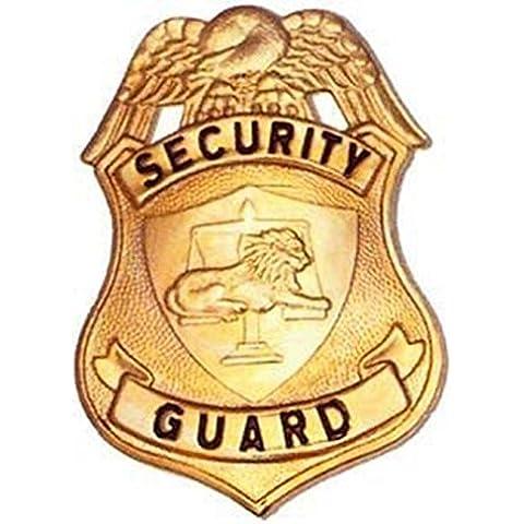 HWC especial Privados de seguridad guardia oficial insignia Shield Identificación acabado dorado, 2–1/2