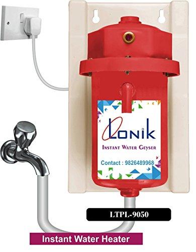 LONIK Instant Plastic Water Geyser, Heater (Red) LTPL-9050