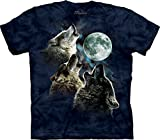 The Mountain - Youth 3 Wolf Moon In Blue T-Shirt, X-Large, As Shown