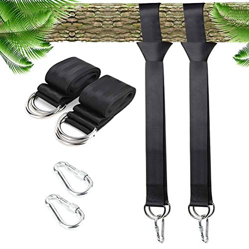 Hihey DREI Paar Swing Hanging Schaukel Befestigung Gurt Kit Aufhängeset Befestigungsset Hängesessel für Hängematten Schaukeln an Bäumen mit Aufbewahrungstasche