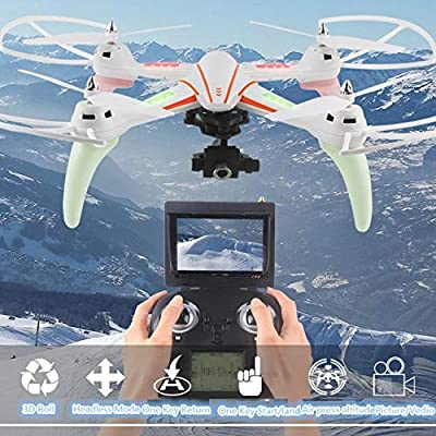 XuBa 2019 large 5.8G FPV RC Quadcopter Q696 2.4g 2-Axis Gimbal Altitude Hold RC Helicopter drone With 1080p HD Camera vs Q333 X8HG