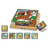 Melissa & Doug- Puzzle con Cubi in Legno, Multicolore, 3771