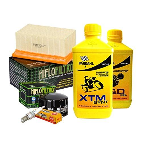 Tagliando Bardahl XTM 10W40 filtro olio aria candele cambio 80W90 R 1200 GS