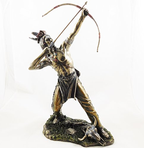 American Indian Redskin Hunter Figur Native Stecker Statue Figur Skulptur | 3504