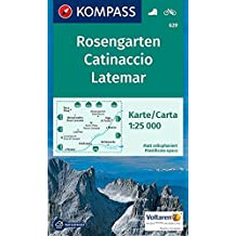 Rosengarten, Catinaccio, Latemar: Wanderkarte mit Radrouten. GPS-genau. 1:25000 (KOMPASS-Wanderkarten, Band 629)