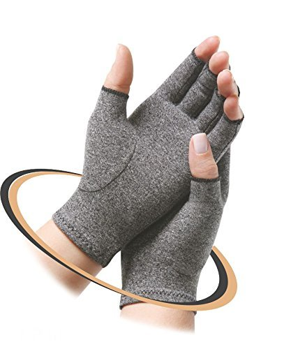 d0be7c2462 Sira Copper Compression Open Finger Hand Gloves, Relief from Arthritis  Pain, Swelling, Rheumatoid