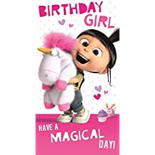 Despicable Me Carte d'anniversaire fille