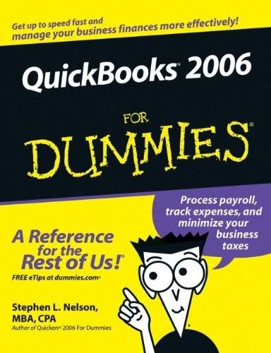 QuickBooks 2006 for Dummies (US Edition)
