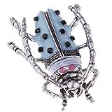 non-brand MagiDeal 1 Stück Tier Bug Form Brosche Kristall Strass Brosche Hochzeit Brautstrauß für Partei, Abschlussball, Hochzeit