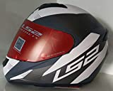 LS2 Full Face Designer Helmet FF-352 Trooper White Grey Matt , Mirror Visor, XL - 59 Cms