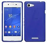 TBOC Coque Gel TPU Bleu Sony Xperia E3 D2202 D2203 D2206 D2243 en Silicone Souple Ultra Mince Etui Housse