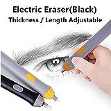 Kit de borrador eléctrico con 23 recambios de goma de borrar, borradores automáticos para dibujo, pintura, bosquejo, dibujo, planes arquitectónicos, , borrador de lápices,funciona con pilas