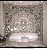 Rawyal-Wandteppich, indisches Mandala-Motiv, Wandschmuck zum Aufhängen, Hippie-Stil