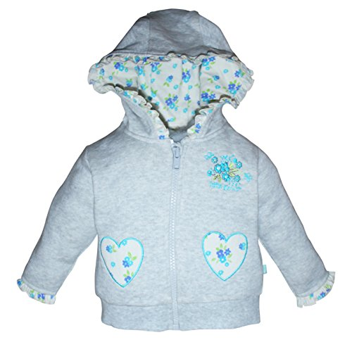 FS Mini Klub Baby-Girls' Jacket (892045E GY MEL COM_6-9M, Grey, 6-9 Months)
