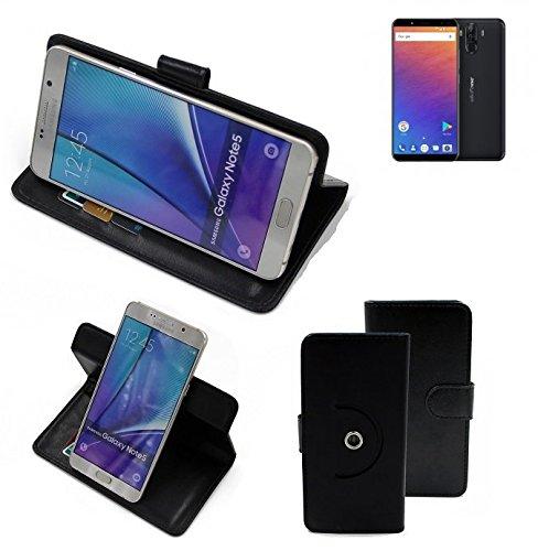 K-S-Trade® Case Schutz Hülle für Ulefone Power 3 Handyhülle Flipcase Smartphone Cover Handy Schutz Tasche Bookstyle Walletcase schwarz (1x)