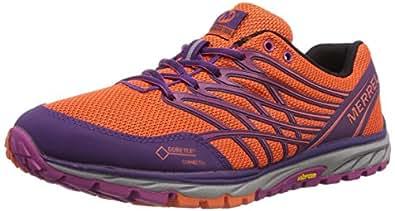 Merrell - Bare Access Trail GTX - Chaussure de fitness outdoor - Femme - Multicolore (Orange Flame/Pourpre) - 38 EU