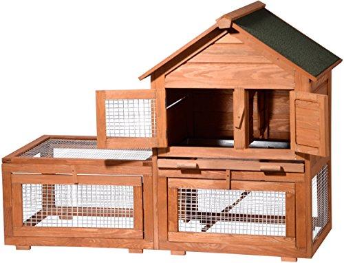dobar 23085 gro er kleintierstall xxl mit freilaufgehege. Black Bedroom Furniture Sets. Home Design Ideas