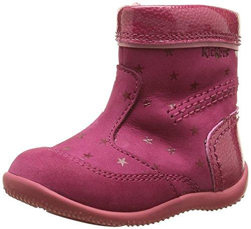 Kickers Bigaro, Chaussures Premiers Pas Bébé Fille, Rose (Fuchsia/Etoile), 21 EU
