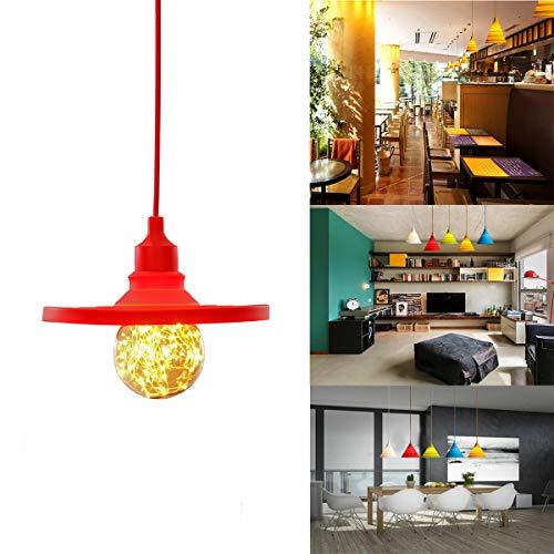 GreenSun E27 Flexible Lustre Suspension Adaptateur De Douille En Silicone avec Fil Colorés Eclairage de Plafond Pour L'ampoule LED Moderne #10