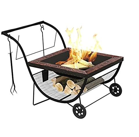 Fire Pit BBQ Outdoor Portable Fireplace Barbecue Grill Bowl Garden Patio Heater By Eazygoods