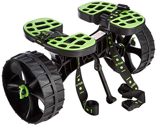 C-Tug Kayak And Canoe Trolley with Sandhopper Wheels - Green