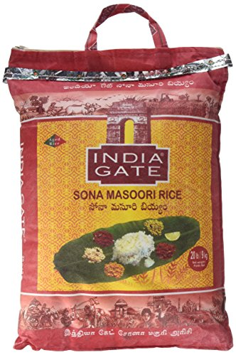 India Gate (India Gate Basmati Rice Classic 10 lb India Gate Rundkornreis sonamasoori, 20 pound bag)