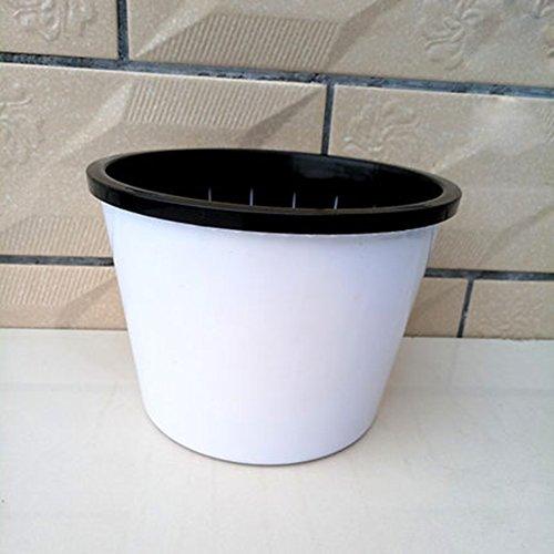D'irrigation d'arrosage automatique d'économie d'eau d'irrigation Lazy Pot de fleurs Résine synthétique en céramique simple solubles Plastique Pots de fleurs, blanc, Small