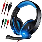 Gaming Headset with Microphone for Laptop,PC,PS4,XBOX ONE.maxin Foldable Gaming Headphones with Noise Cancelling