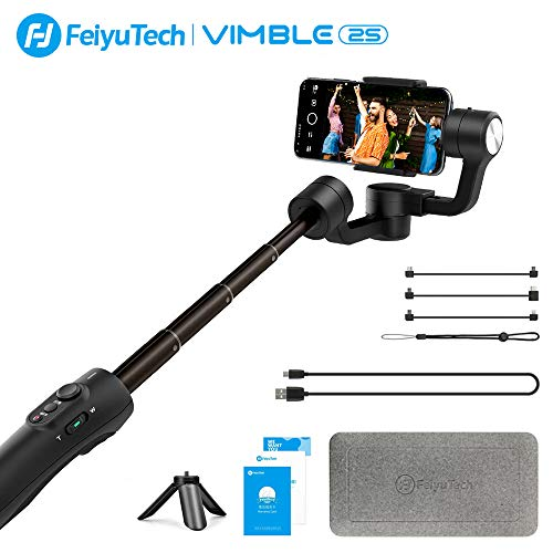 FeiyuTech Vimble 2S Handy Smartphone Gimbal stabilisator,Ausziehbar Phone 3-Achsen Handheld Stabilizer für IOS iPhone 6/7/8 Plus/X/XS/XR,Android Samsung S9/8/7 Edge,Huawer,TCL und höher